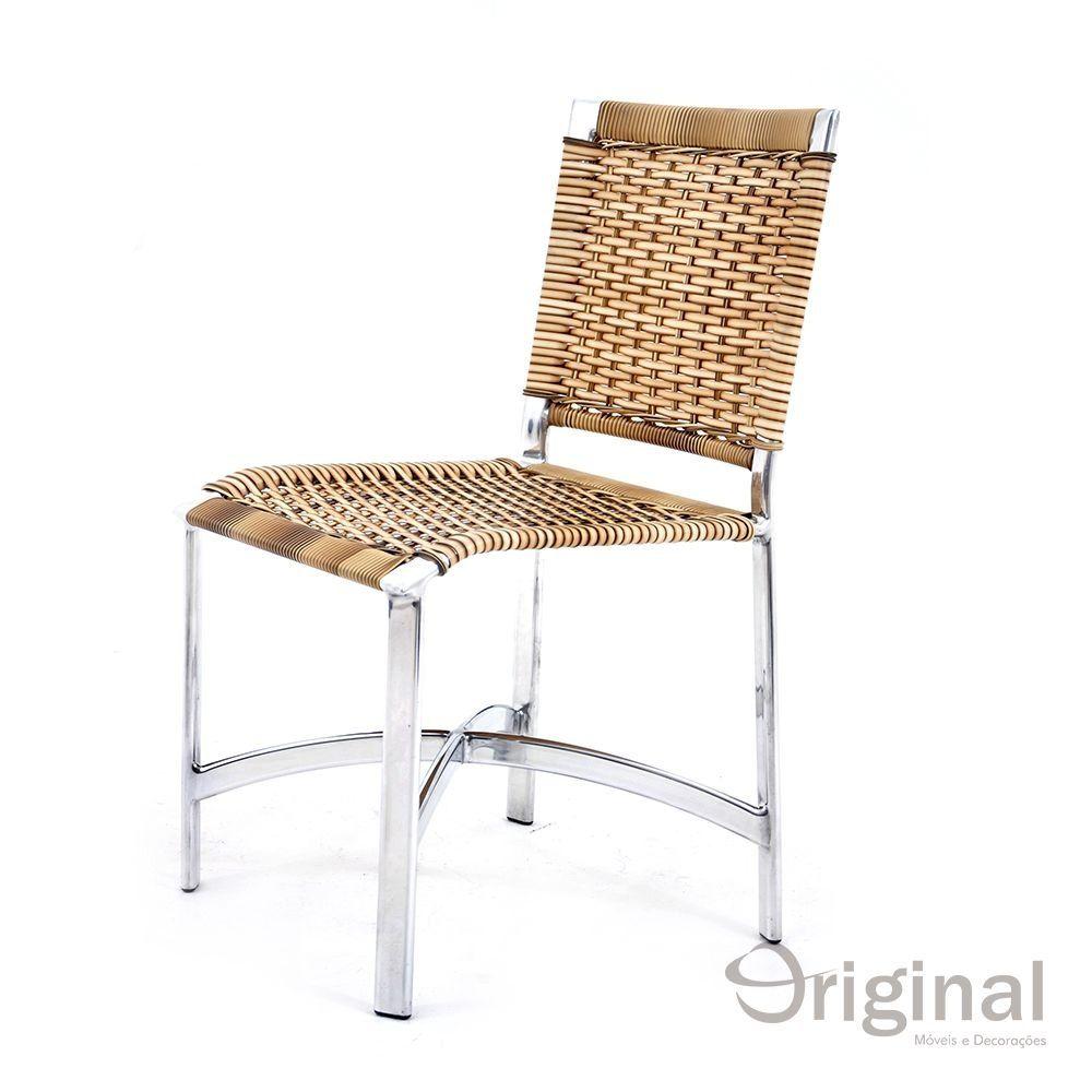 Cadeira de Área Alumínio e Fibra Libélia Original Móveis