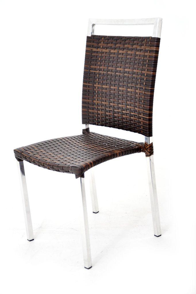 Cadeira de Área Alumínio e Fibra Malavi Original Móveis
