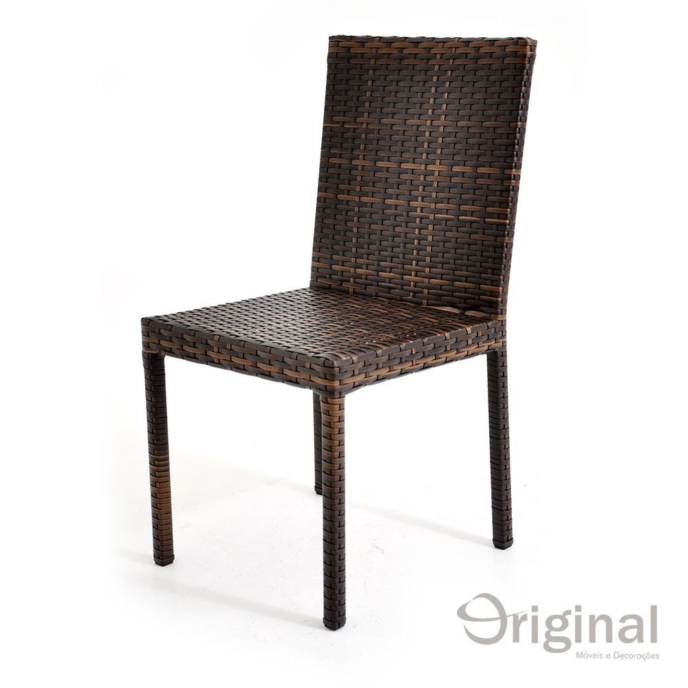 Cadeira de Área Alumínio e Fibra Miamar Original Móveis