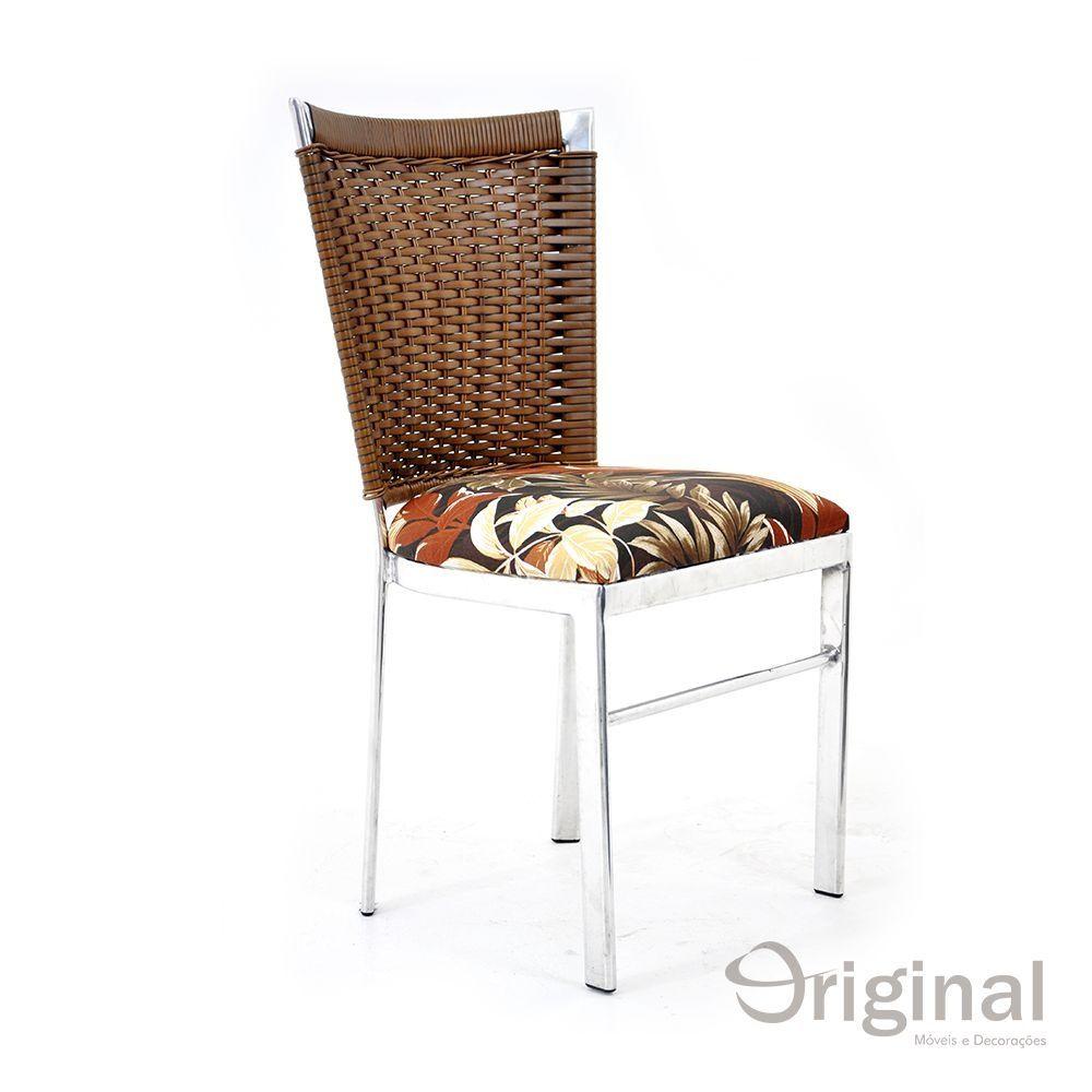 Cadeira de Área Alumínio e Fibra Moçambique Original Móveis