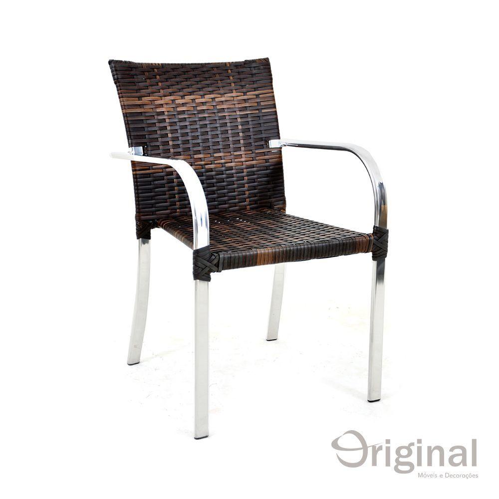 Cadeira de Área Alumínio e Fibra Original Móveis