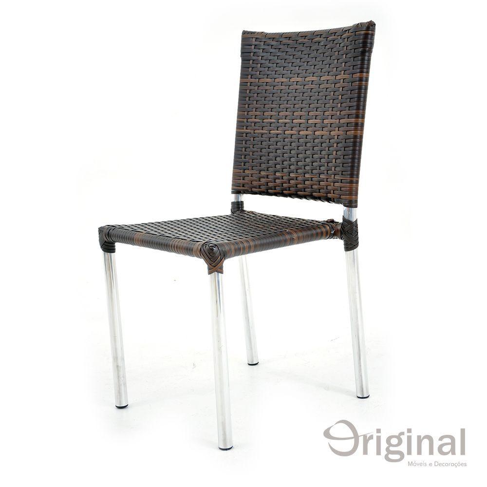 Cadeira de Área Alumínio e Fibra Portugal Original Móveis