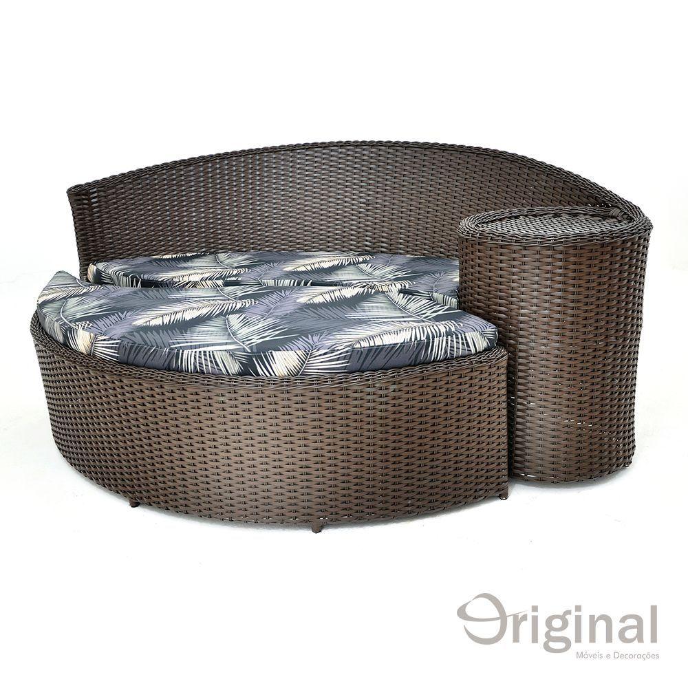 Conjunto Chaise Dubai Acquablock Original Móveis