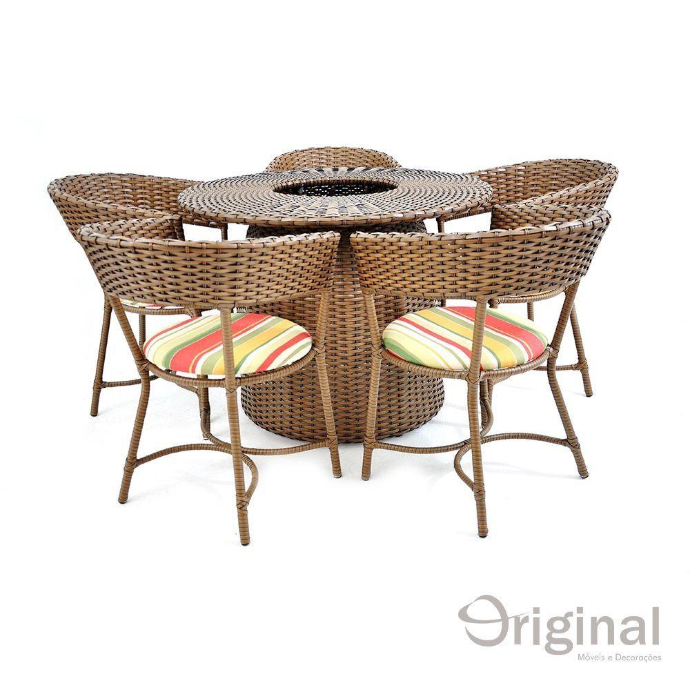 Conjunto de Mesa 4 Cadeiras de Alumínio Turquia Original Móveis