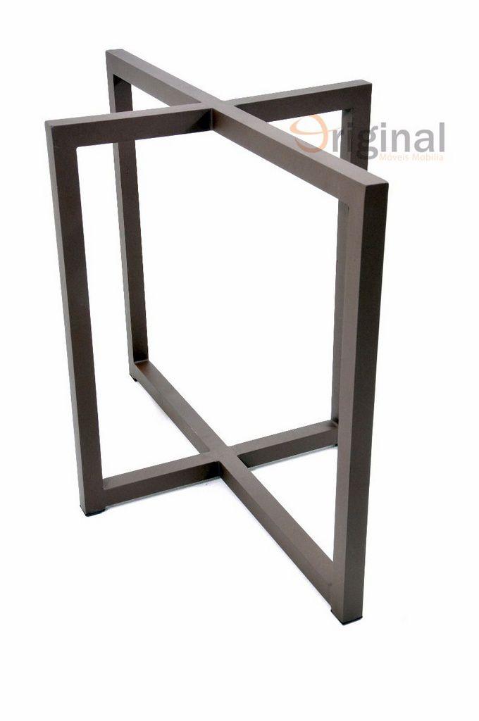 Mesa de Alumínio Cristal Pintura Eletrostática Original