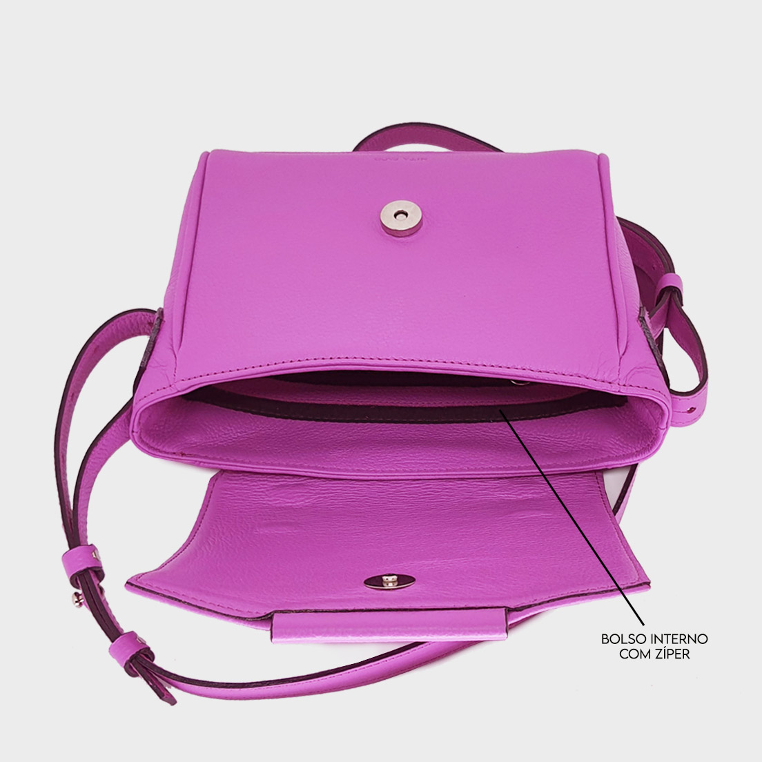 Bolsa de Couro Asti Pink