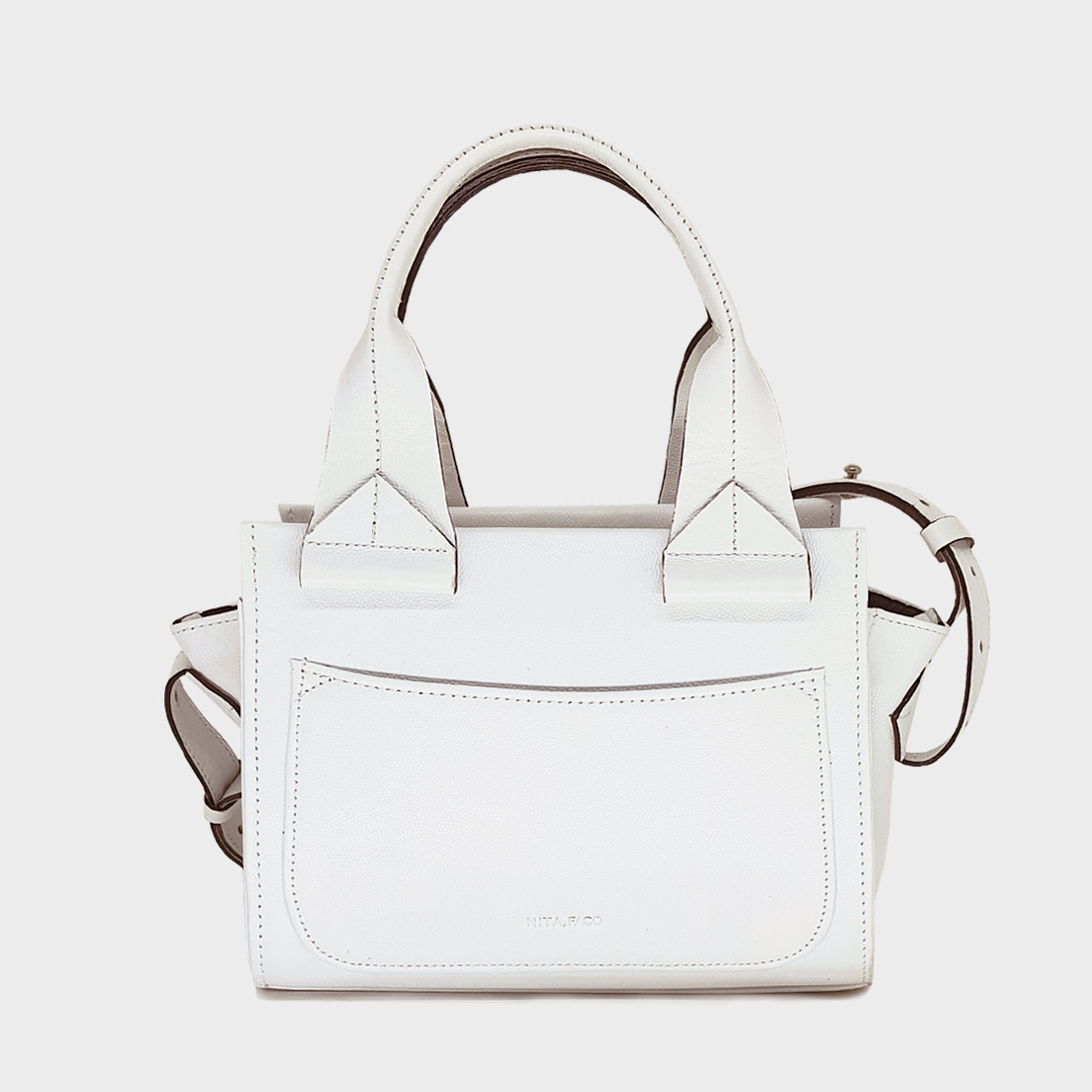 Bolsa de Couro Trento Mini Branca