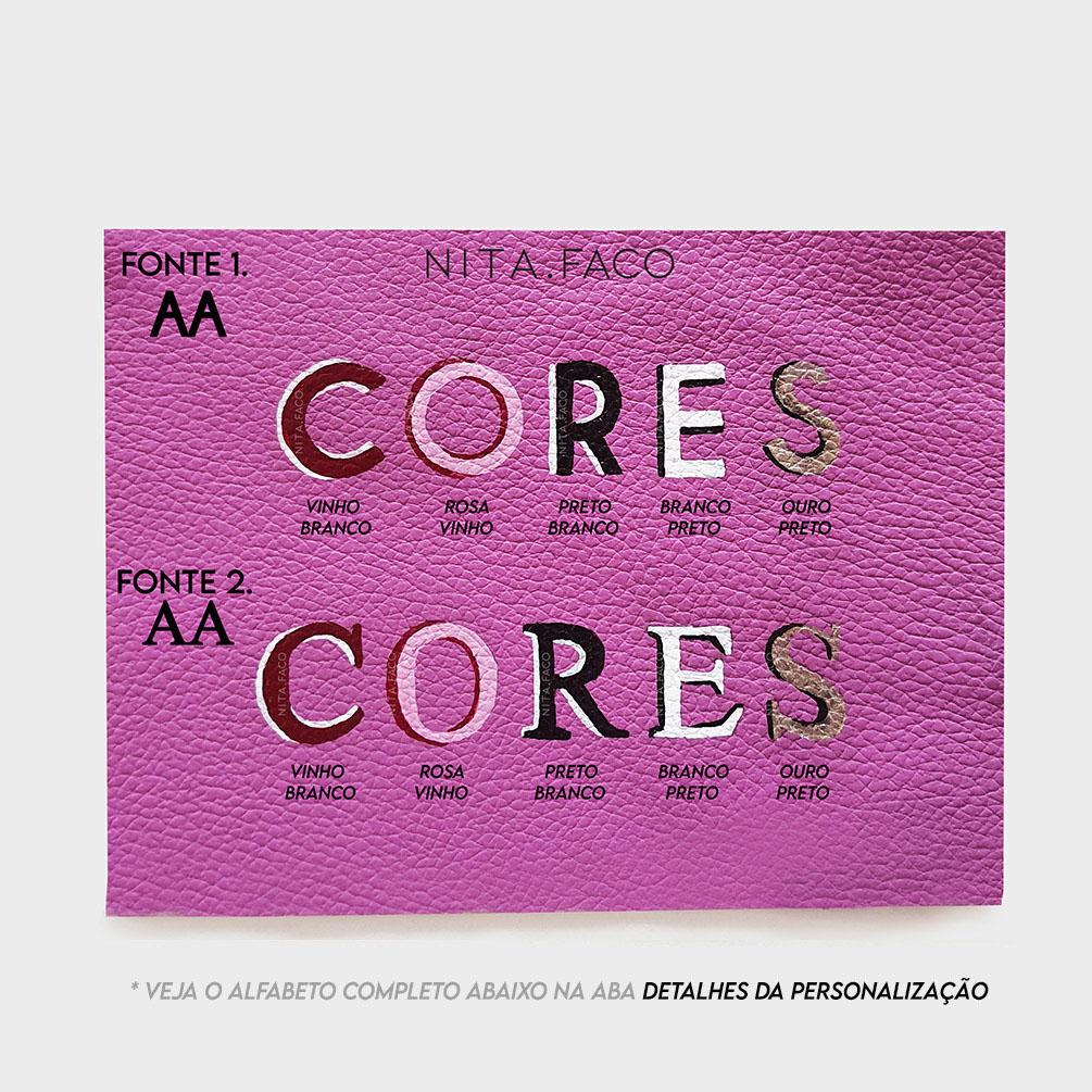 Carteira de Couro Parma Pink