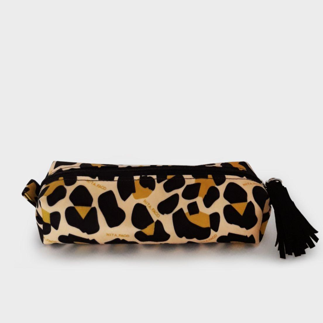 Estojo Multi Leopardo Amarelo