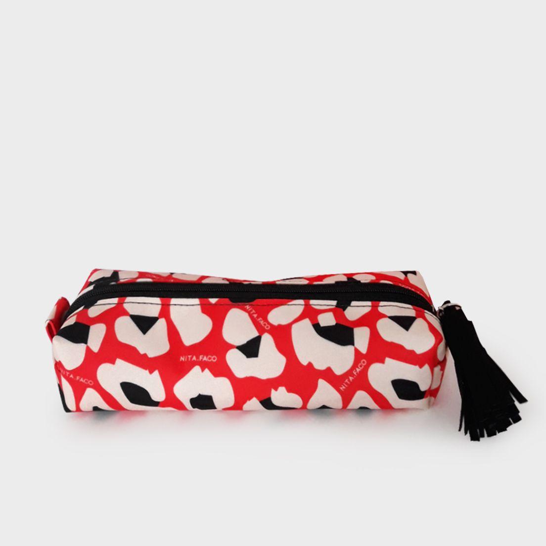 Estojo Multi Leopardo Vermelho