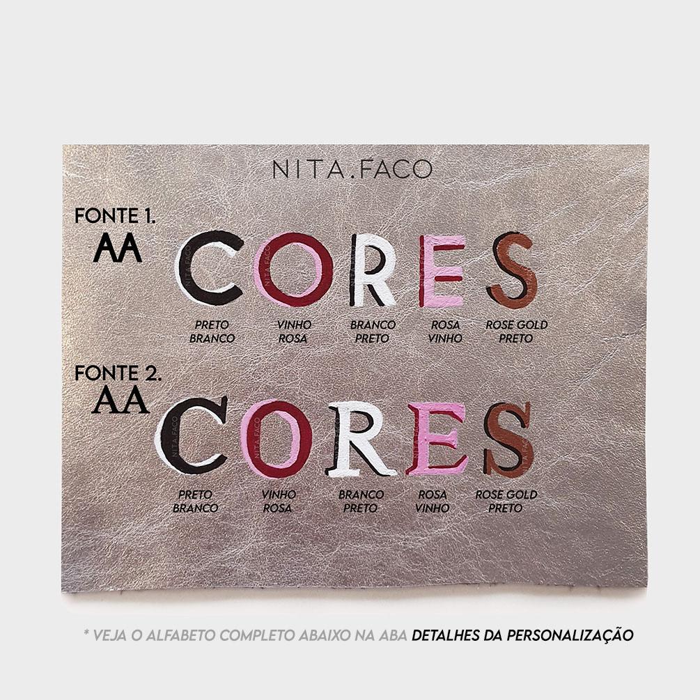 Kit Roma de Couro Cinza