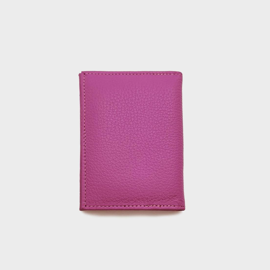 Porta Cartão de Couro Salerno Pink