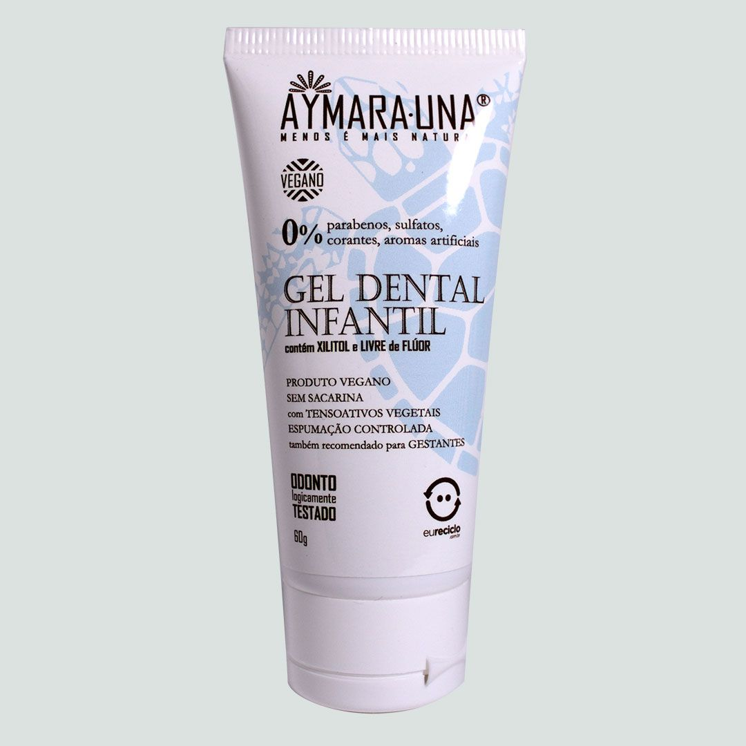 GEL DENTAL Infantil - 30% Xilitol, Sem Flúor, pH 6,8-7,2 - 60g