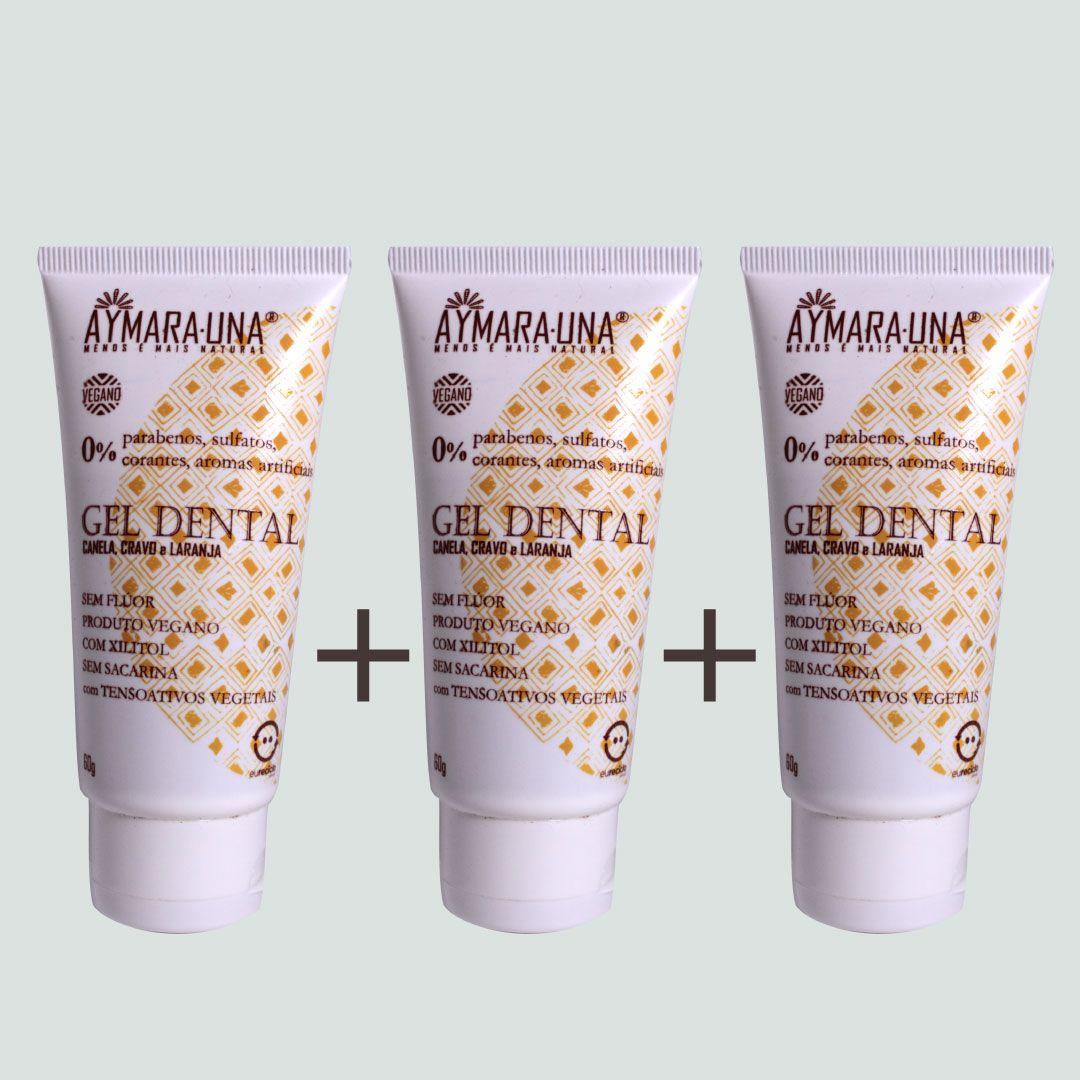 Kit Gel Dental Especiarias - 3 unidades
