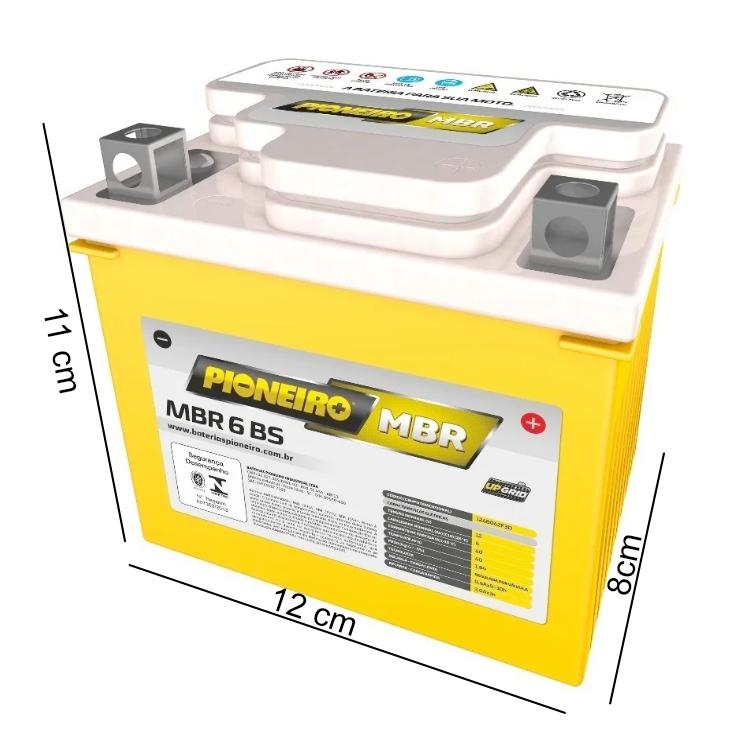 Bateria de Moto 12v-6ah Biz/Pop/Cg/Fan/Bros/Esd 125/150