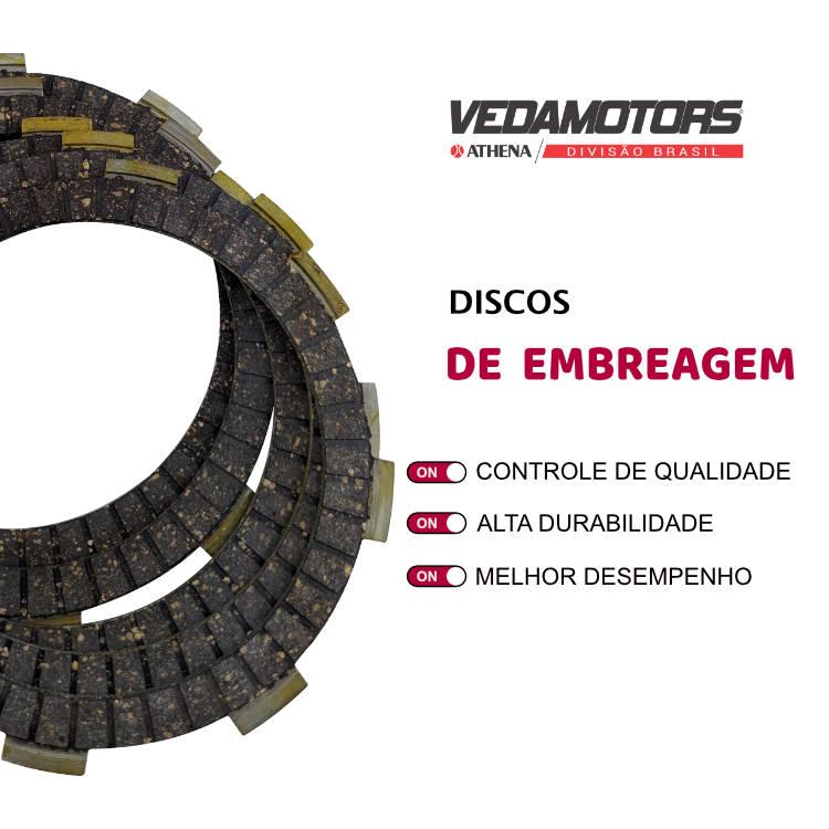 Disco de Embreagem Ti 150 / Fan 150 / Fan 125 2009 Vedamotors