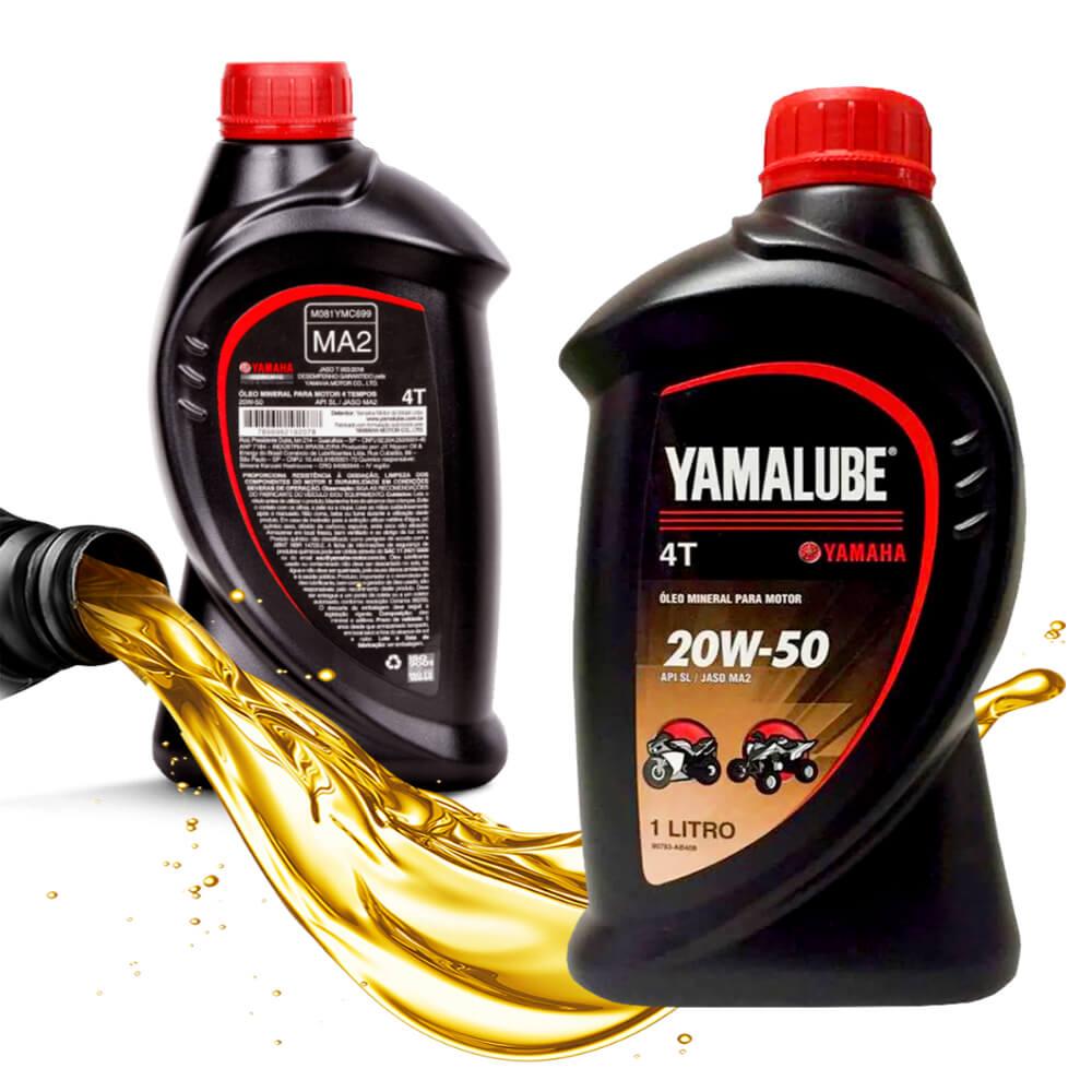 Kit Troca Óleo 3 Litros Yamalube 20w50 4T