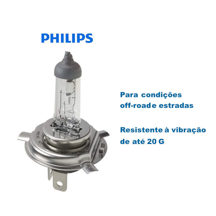 Lampada Farol Titan 150 Philips H4