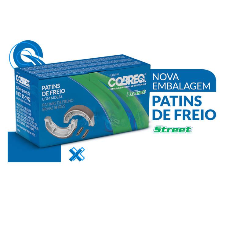 Patim de Freio Diant/Tras Cg 150 Cobreq