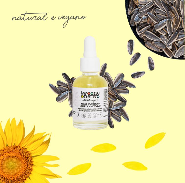 1300 - Blend Nutritivo Unhas e Cuticulas Melaleuca 30ml - Twoone Onetwo Natural Vegana