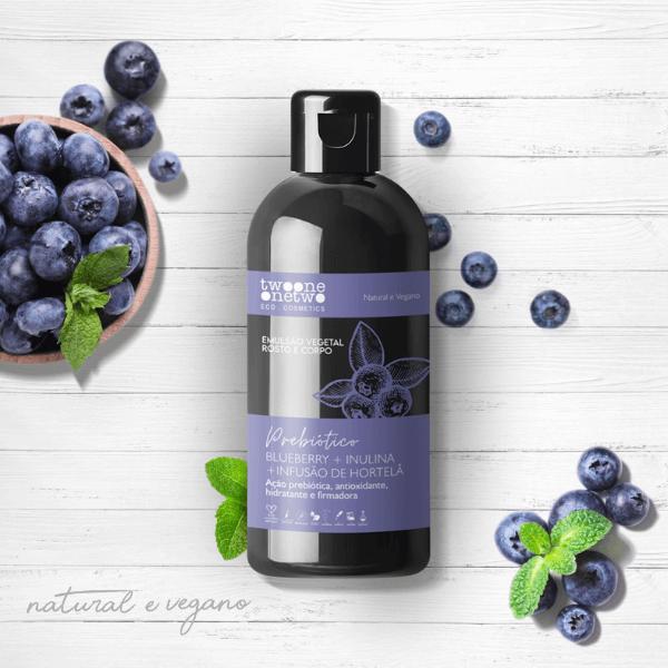 200 - Emulsão Vegetal Blueberry+inulina+hortelã Natural Vegano Twoone Onetwo 250ml
