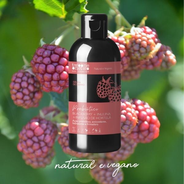 205 - Geleia de Banho Blackberry+inulina+Hortelã Natural Vegano Twoone Onetwo 250g