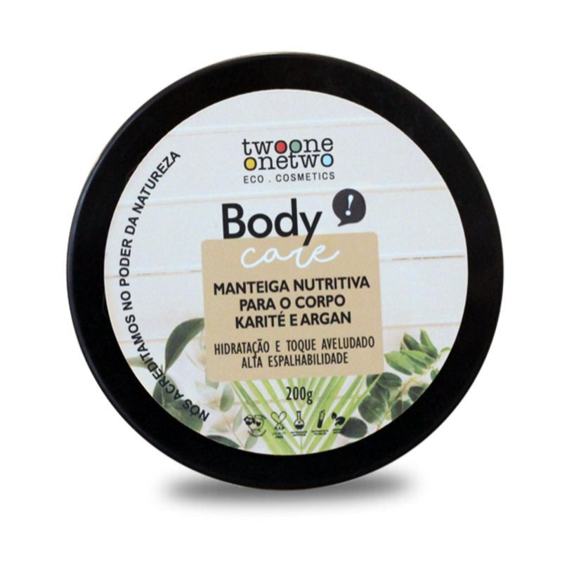 403 - Manteiga Nutritiva Natural Vegano  para o Corpo Karité e Argan Twoone Onetwo 200g
