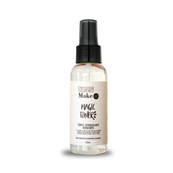 412 - Magic Toner - Tonico Demaquilante Natural Vegano  Lavanda e Melaleuca Twoone Onetwo 120ML