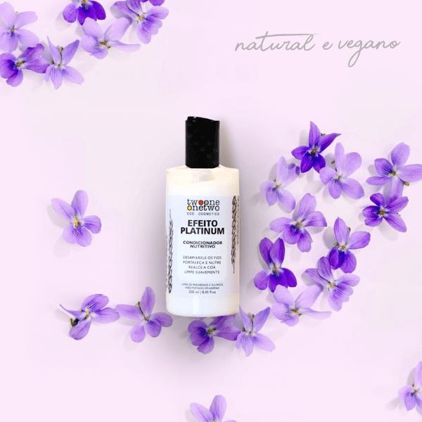 Condicionador Efeito Platinum Natural Vegano Violet Flowers 250ml
