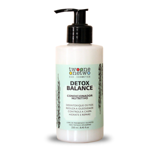 431 - Condicionador Detox Balance Natural Vegano  Alcaçus e Algas Vermelhas Twoone Onetwo 250ml