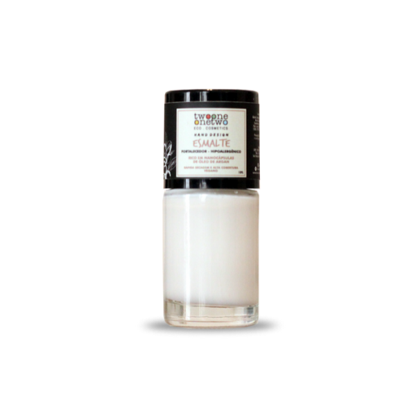 626 - Esmalte Hipoalergênico Vegano Fortalecedor Twoone Onetwo 10ml Bright White (REF 1154)