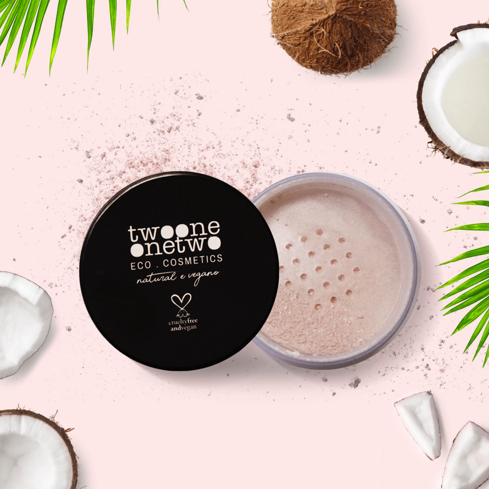 804 - Pó Translúcido Facial Leite de Coco Natural Vegano Twoone Onetwo 6g Matte