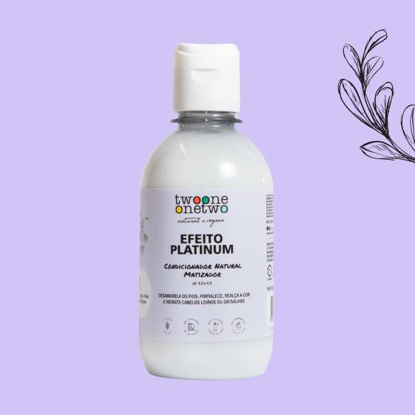Condicionador Natural Matizador Efeito Platinum Cabelos Loiros ou Grisalhos Flores Violetas Twoone Onetwo Natural Vegana