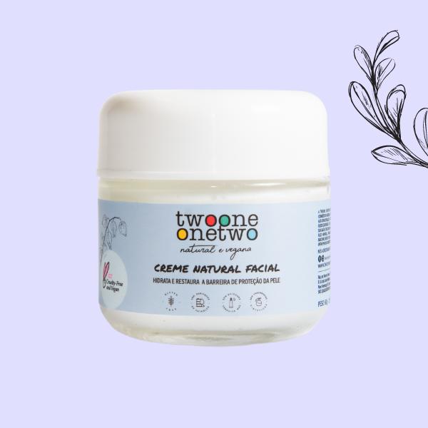 Creme Facial Natural Hidratante Phisalis Twoone Onetwo Natural Vegana
