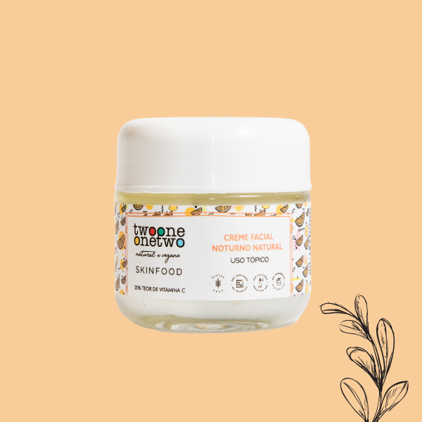 Creme Facial Natural Noturno Vitamina C Twoone Onetwo Natural Vegana