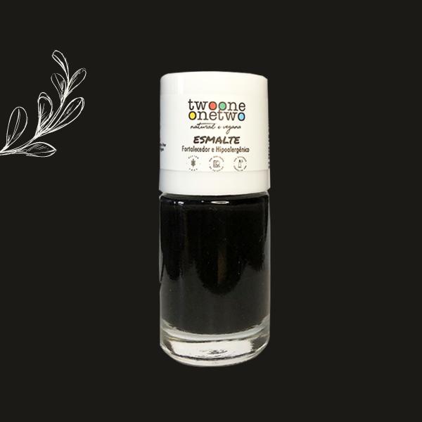 Esmalte Fortalecedor Hipoalergênico Argan Twoone Onetwo Natural Vegana Cor Black Onyx