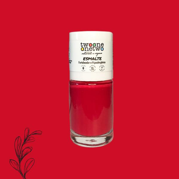 Esmalte Fortalecedor Hipoalergênico Argan Twoone Onetwo Natural Vegana Cor Poppy Red