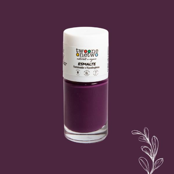 Esmalte Fortalecedor Hipoalergênico Argan Twoone Onetwo Natural Vegana Cor Purple