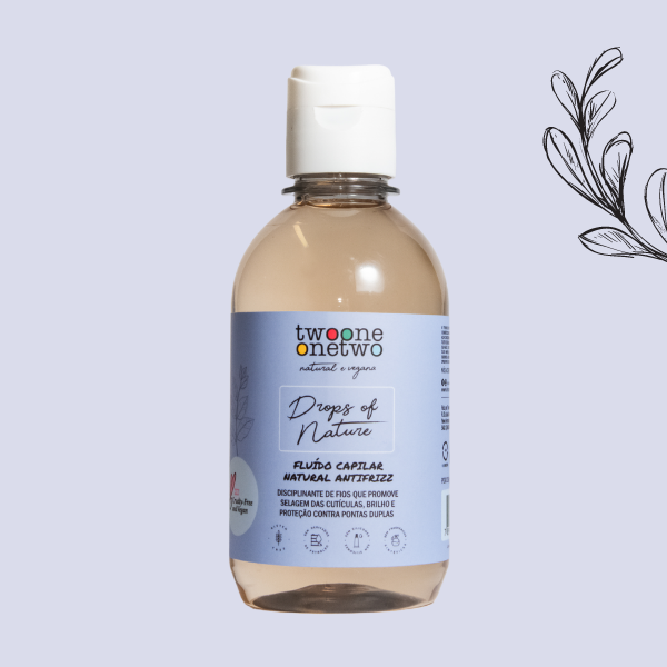 Fluído Natural Capilar Antifrizz Drops Of Nature Hortelã Twoone Onetwo Natural Vegana