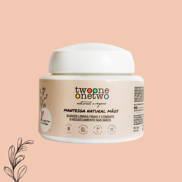 Manteiga Natural Mãos Karité e Picão Preto Twoone Onetwo Natural Vegana