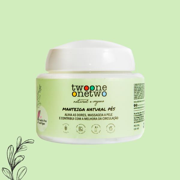 Manteiga Natural Pés Karité e Alecrim Twoone Onetwo Natural Vegana