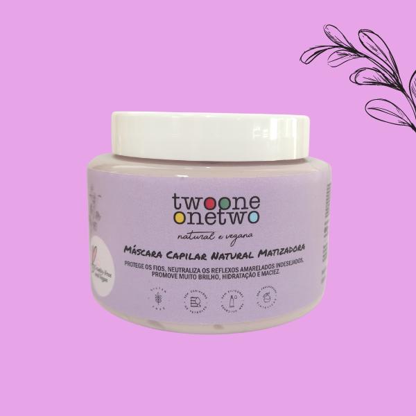 Máscara Capilar Natural Matizadora Efeito Platinum Twoone Onetwo Natural Vegana
