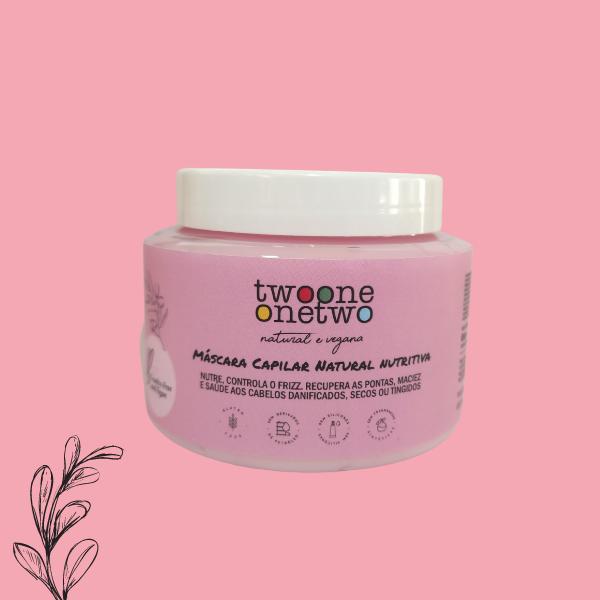 Máscara Capilar Natural Nutritiva Instant Repair Coco e Jojoba Twoone Onetwo Natural Vegana
