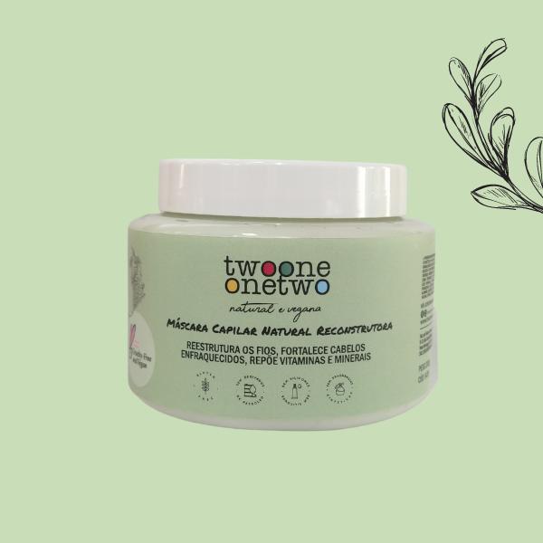 Máscara Capilar Natural Reconstrutora  Detox Balance Alcaçus  e Chicória Twoone Onetwo Natural Vegana