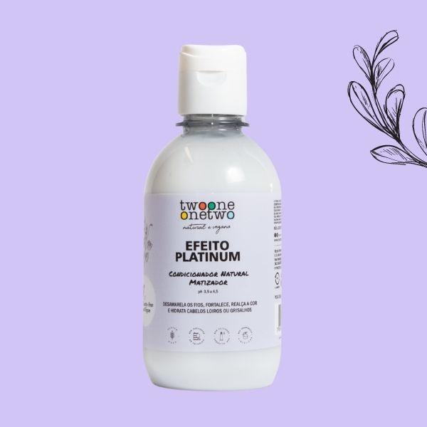 Shampoo Natural Matizador Efeito Platinum Cabelos Loiros ou Grisalhos Twoone Flores Violetas Onetwo Natural Vegana