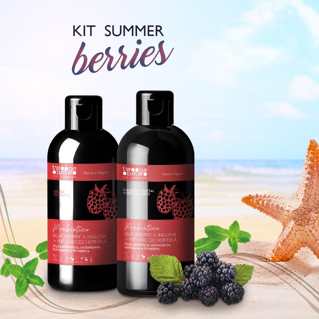Summer Berries AntiOx Geleia de banho Blackberry + Emulsão hidratante Blackberry & Hortelã