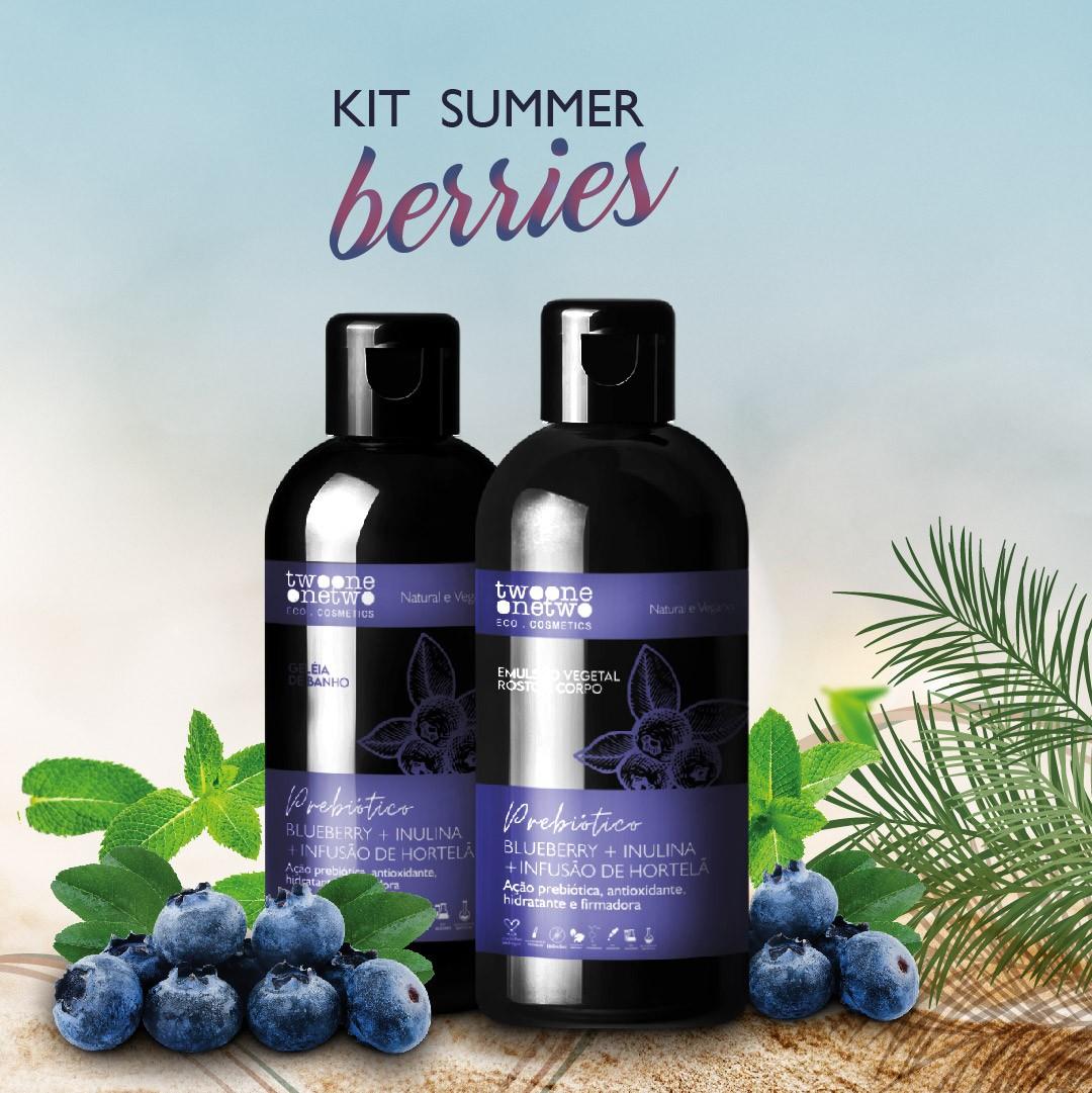 Summer berries AntiOx Geleia de banho Blueberry + Emulsão hidratante Blueberry & Hortelã