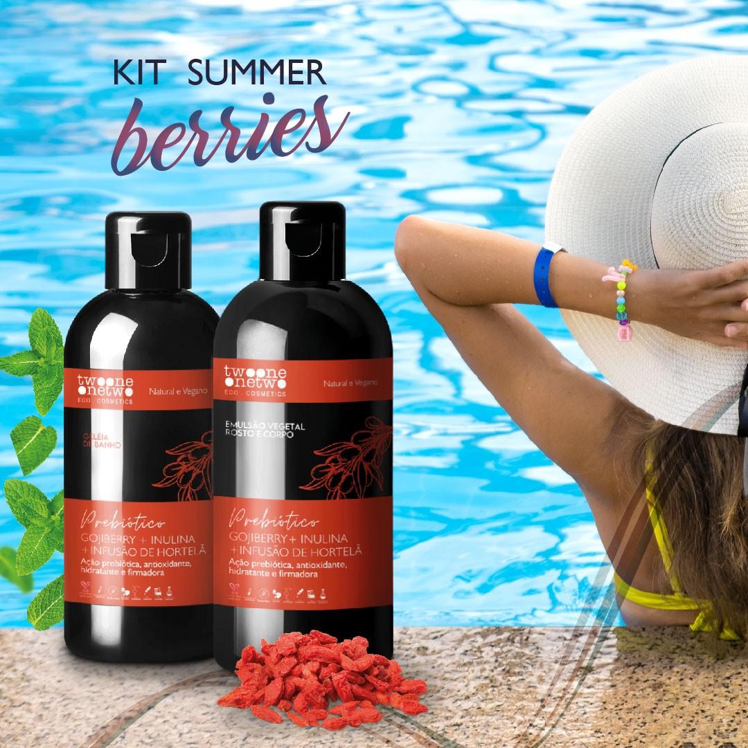 Summer berries AntiOx Geleia de banho Goji berry + Emulsão hidratante Goji berry & Hortelã