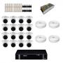 Kit CFTV intelbras HD com 16 câmeras + DVR Intelbras MHDX 1116 de 16 canais + acessórios