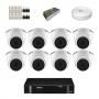 Kit CFTV intelbras HD com 8 câmeras + DVR Intelbras MHDX 1108 de 8 canais + acessórios